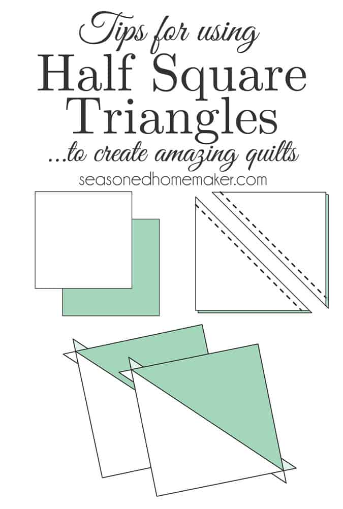 Did you know that Half Square Triangles are one of the most basic quilting blocks and can be used to create very complex blocks. From this technique alone a ton of designs can be created like Chevrons, Flying Geese, Herringbone, and ZigZag Path. This tutorial will explain to you about half-square triangles and how easy they are to make designs.