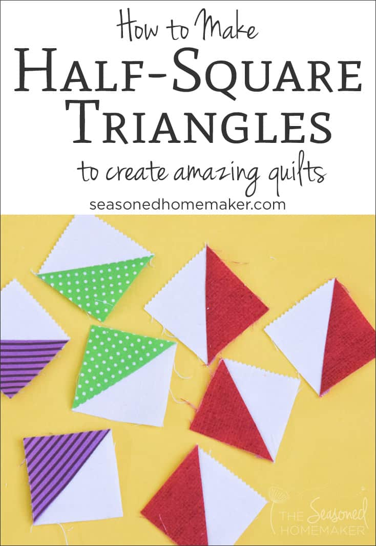 How to Make Easy Half Square Triangles