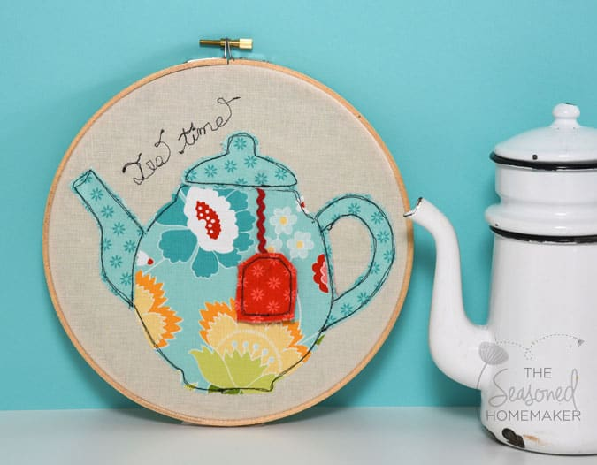 If you enjoy sewing and crafts then Appliqué is an ideal beginner sewing project. Appliqué sewing projects are fast and easy. If you like to embellish small items, create handmade gifts, or just sew for fun you will love these tea-themed appliqué design patterns.