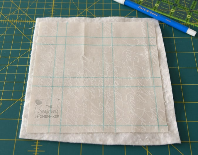 """I quilted 1/4"""" on either side of the seam which made a nice quilted grid."""