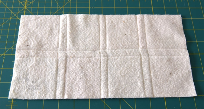 "I quilted 1/4"" on either side of the seam which made a nice quilted grid."