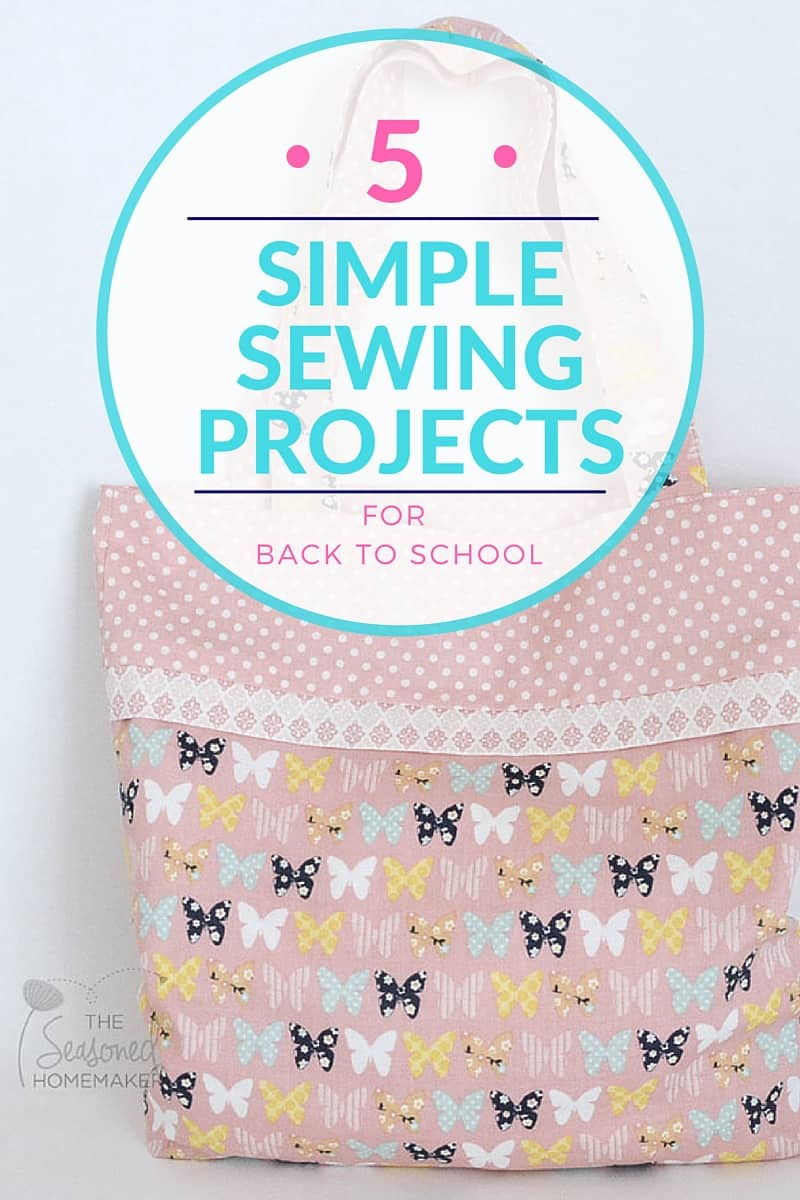 Sewing for Back-to-School is the perfect way to create personalized items for kids. DIY a tote bag or create unique things for kids to carry back to school. Check out #4 and find out why it's a simple sewing project that anyone can make.