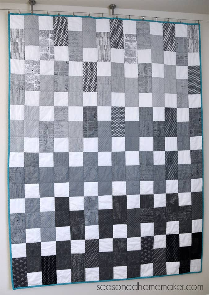 The perfect quilt pattern for people with limited time to for Black white and gray quilt patterns