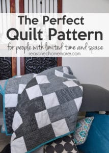If you're you looking for the Perfect Quilt Pattern for People with Limited Time & Space I have good news. Pre-cuts and a super easy quilt pattern equals a finished quilt. Find out the secret to making a quilt even if time and space are in short supply.