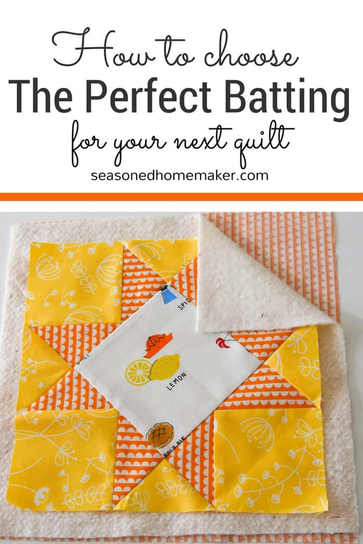 Understanding Quilt Batting - The Seasoned Homemaker : quilt batting types - Adamdwight.com