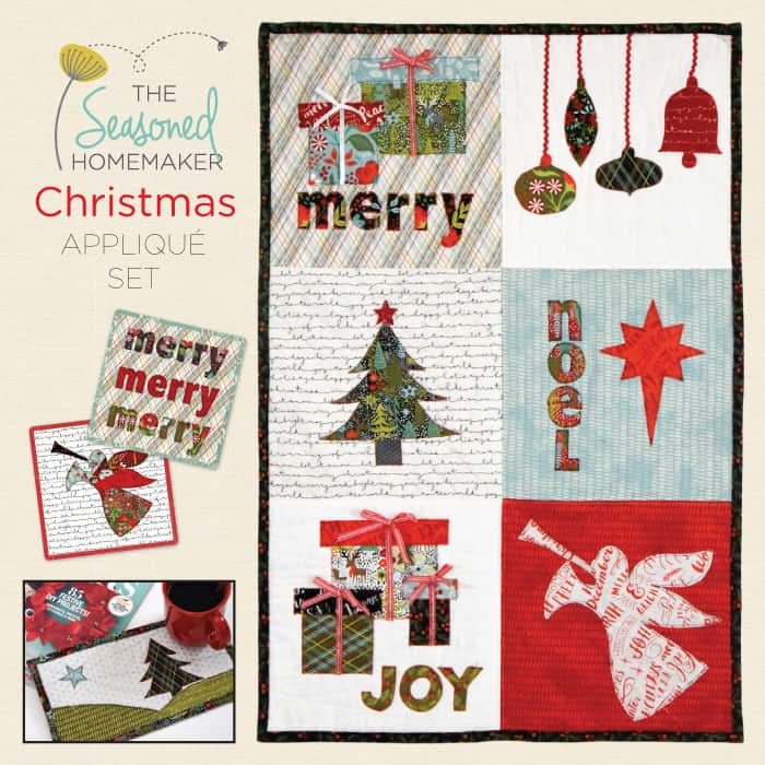 Handmade Gifts are one of the best Christmas traditions. They can be inexpensive, easy, and still impressive. This Christmas Appliqué Set is all of the above. The designs make appliqué simple enough for children to participate in the fun. I've also included SVG files for Silhouette and Cricut owners. Handmade holidays are the best!