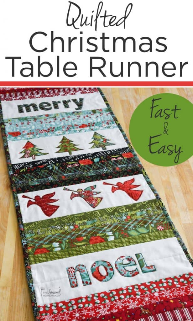 Handmade items are one of the best Christmas traditions. This Quilted Christmas Table Runner is a fast and easy Christmas quilting project that you can make in an afternoon. Best of all, it's guaranteed to become a treasured holiday tradition for your home. #ChristmasQuilt