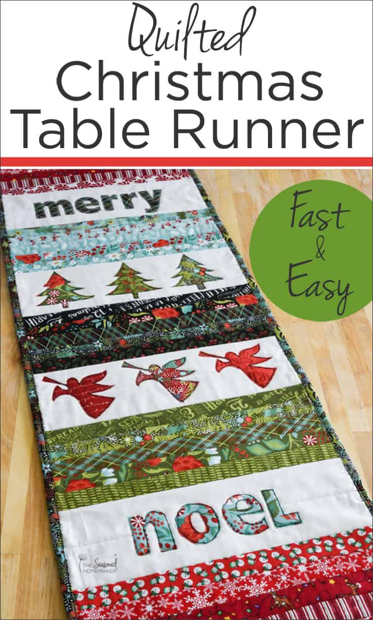 Christmas Table Runner Quilt.Quilted Christmas Table Runner The Seasoned Homemaker