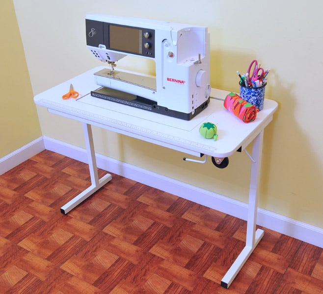 Choosing The Best Sewing Cabinet For Your Space The Seasoned Homemaker Enchanting How To Set Up A Sewing Machine Table