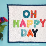 How to Make a Letter Appliqué Mini-Quilt