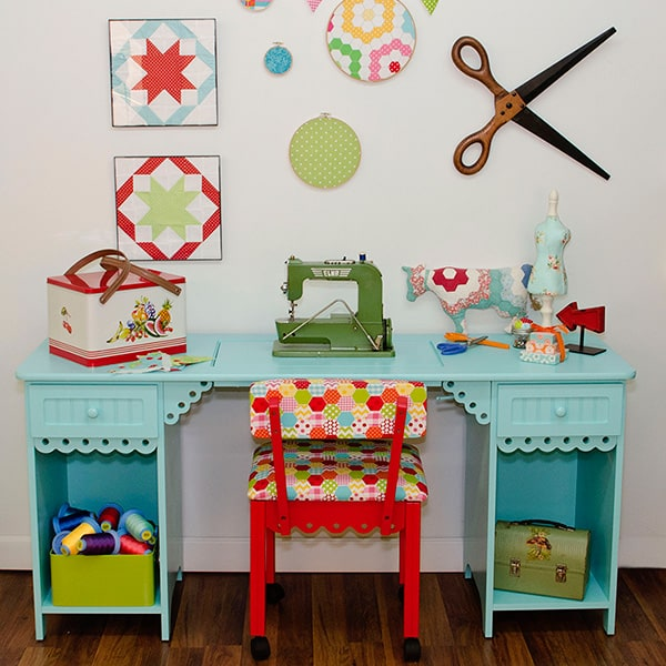 Cutest Sewing Cabinet Option for Colorful Spaces