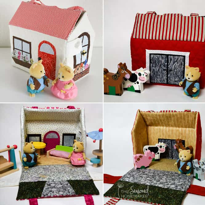 Create a village of soft plushie tiny houses. Sew up a soft little houses that can double as storage for small toys.