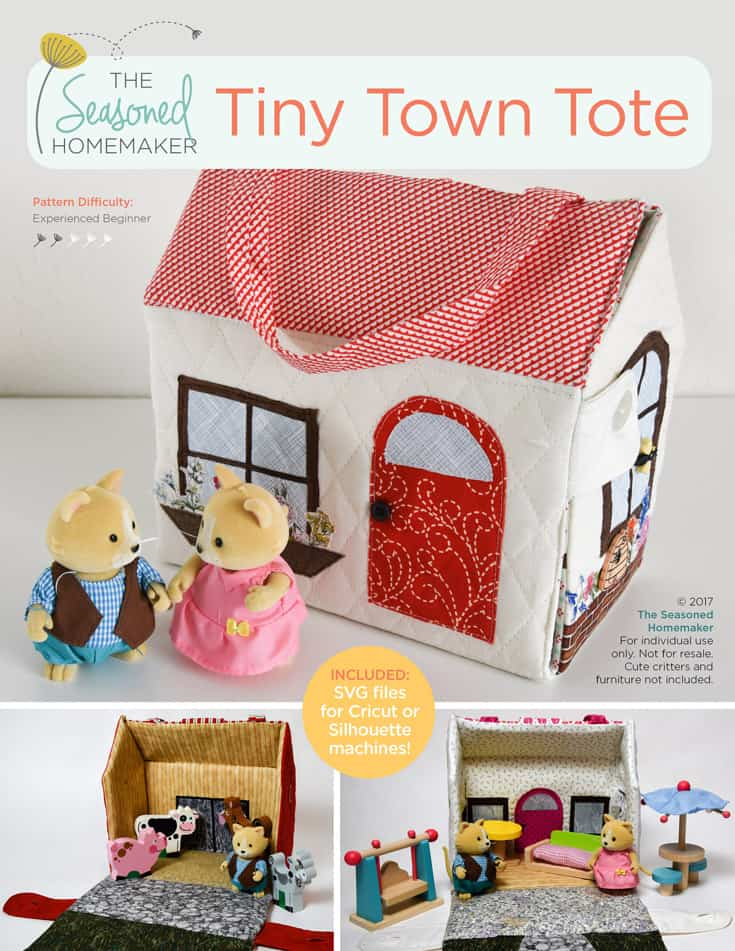 The Tiny Town Tote PDF Pattern - The Seasoned Homemaker