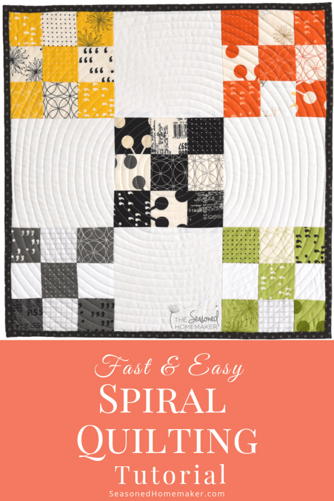 Spiral Quilting with a Walking Foot
