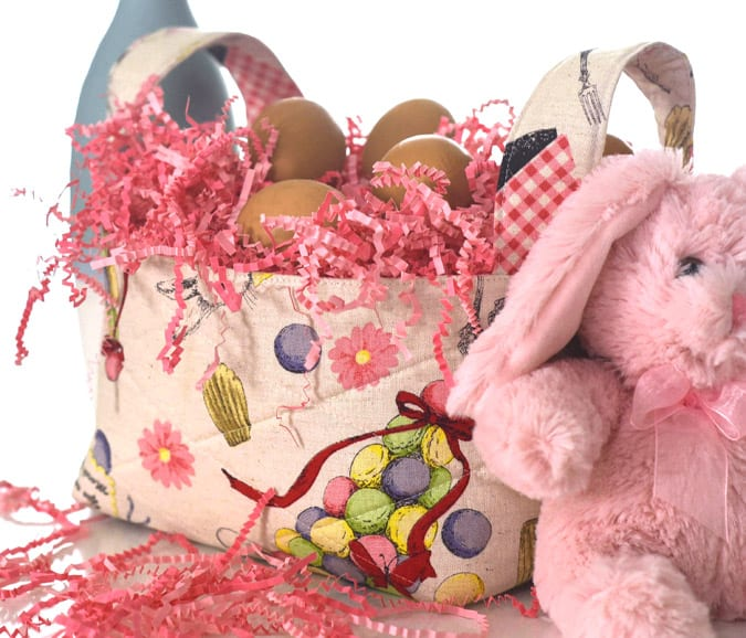 Diy fabric easter basket ideas the seasoned homemaker make these easy diy fabric baskets for easter or for home organization easy to make negle Images