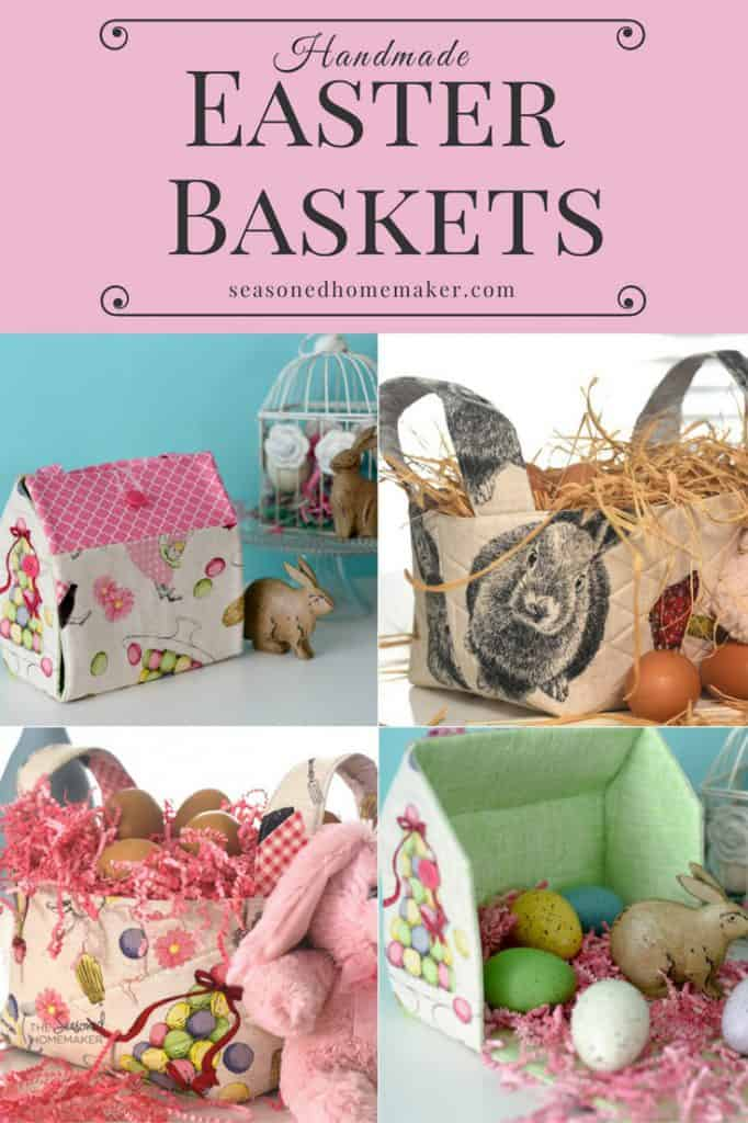 Make these Easy DIY Fabric Baskets for Easter or for Home Organization! Easy to Make and fun to sew.