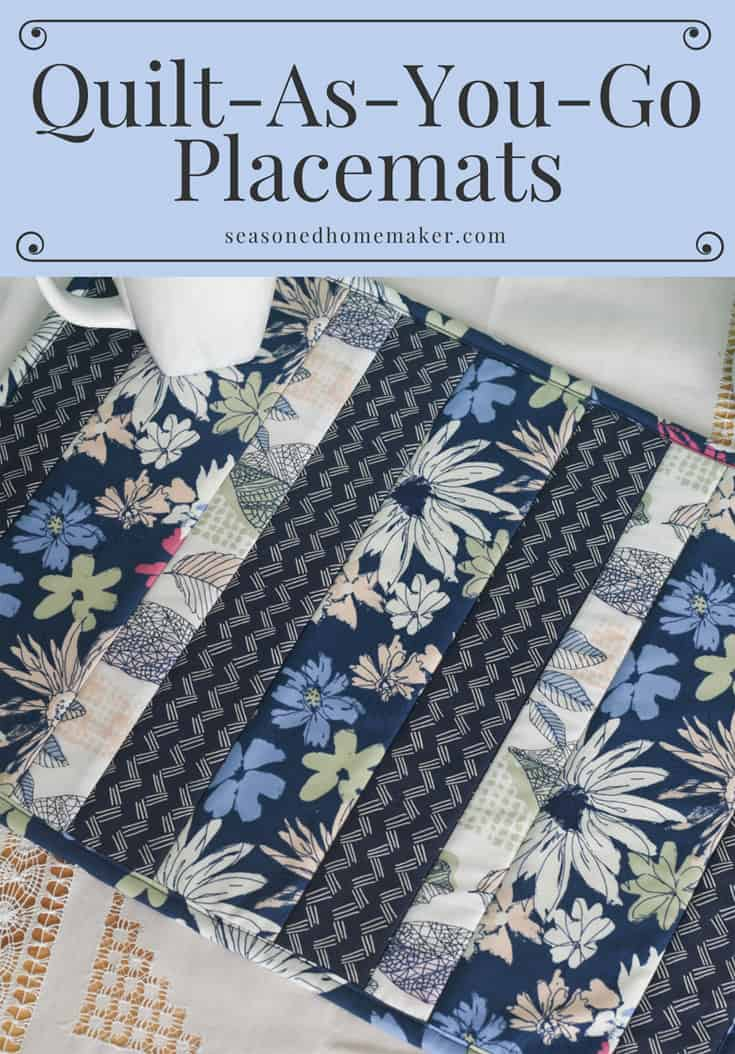 Easy Quilt As You Go Placemats The Seasoned Homemaker