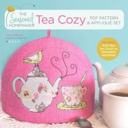 Have fun making a tea cozy in your favorite fabrics. Add in some appliqué to make it unique. Download this free sewing pattern today.