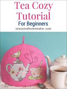 Sew a simple tea cozy pattern. The perfect gift for Mother's Day, Teacher Appreciation, Easter, or Christmas.