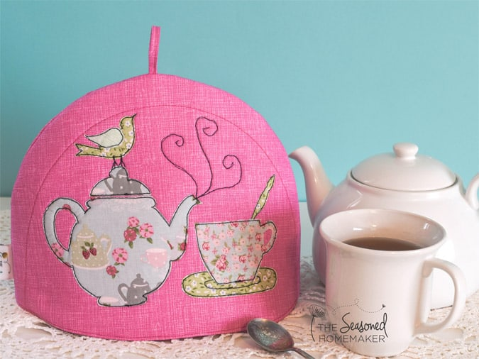 DIY Tea Cozy Tutorial finished image