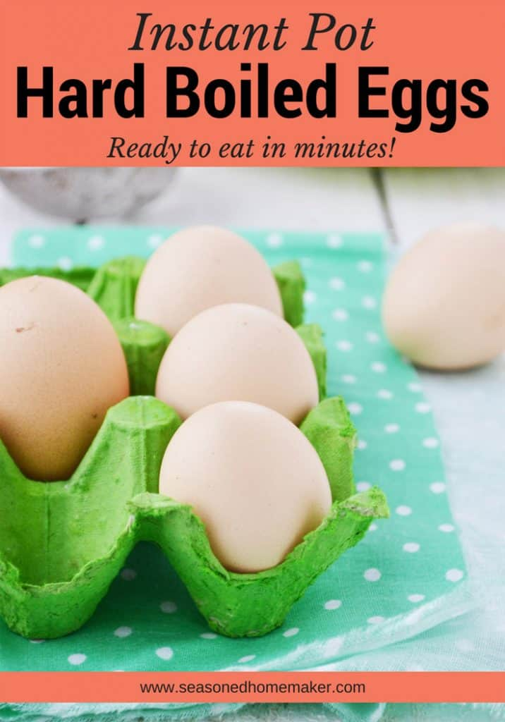 Instant Pot Hard Boiled Eggs are easy to make and cook perfectly every time; and they make the perfect snack or appetizer.