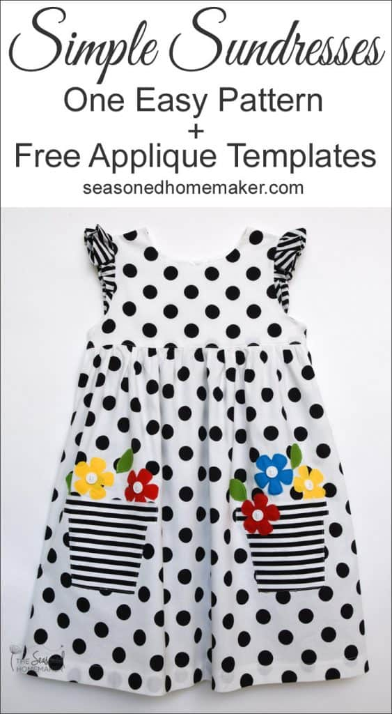 Girl's Easy to Sew Sundress with Appliqué