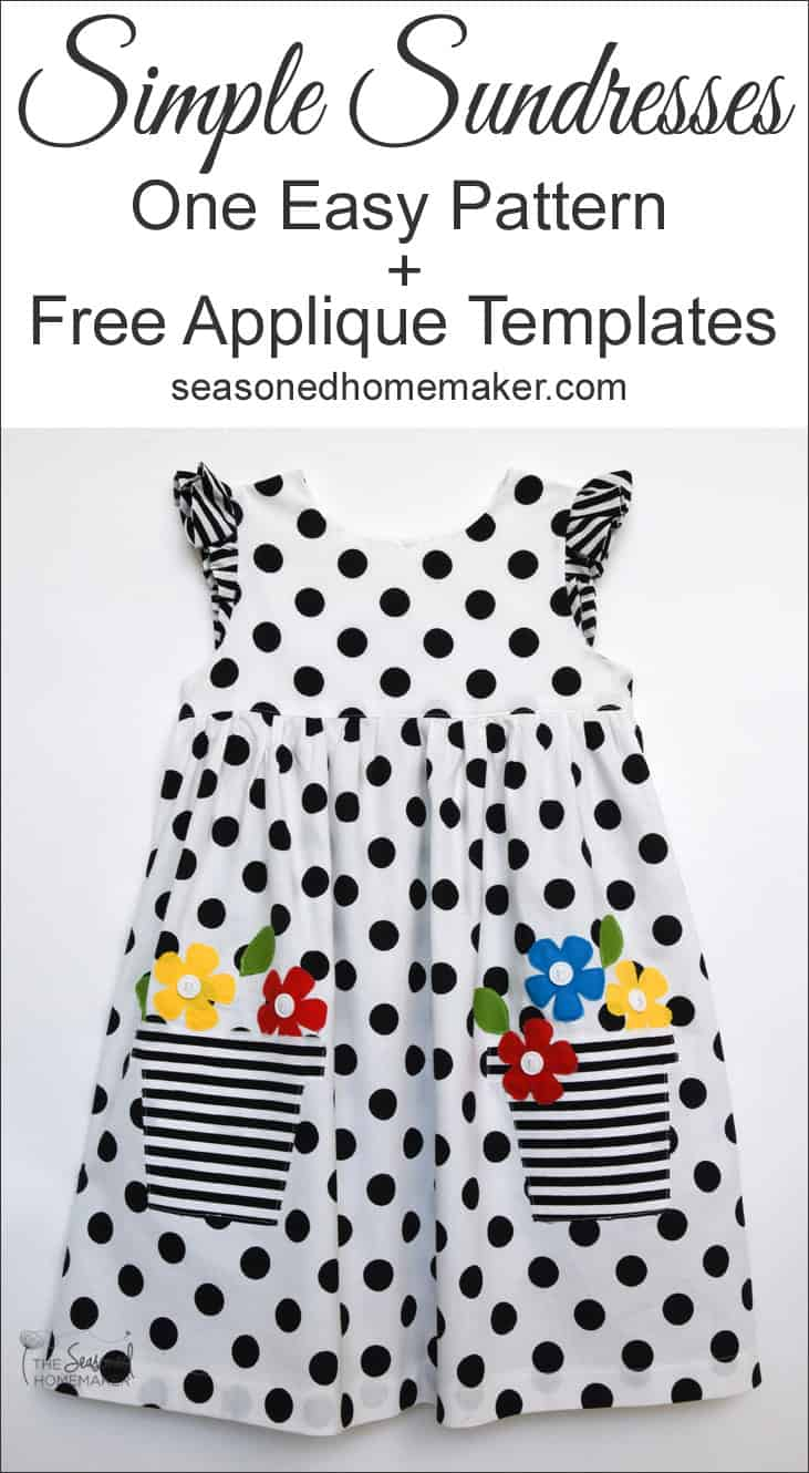 Girl\'s Easy-to-Sew Sundresses - The Seasoned Homemaker