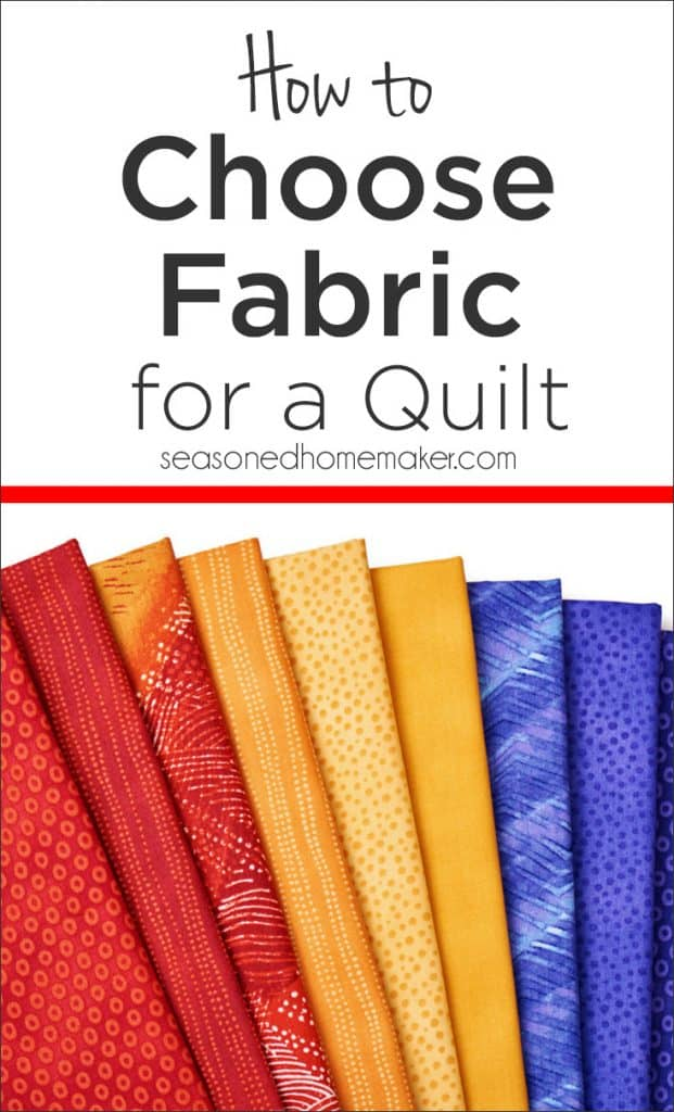 Learn how to choose fabrics for a quilt.