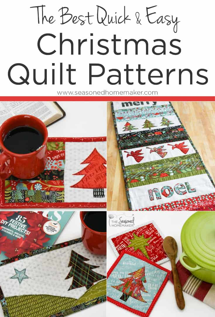 A handmade Christmas quilt is will be treasured for generations. The key is to use a quick and easy Christmas quilt pattern. #ChristmasQuilts #DIYChristmasquilt #Christmassewing #HandmadeChristmas