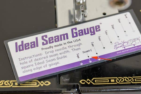 "Using a 1/4"" foot on your machine may not be the best way to sew an accurate 1/4"" seam. Find out How to Get a Perfect 1/4"" Seam Every Time!"