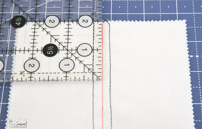 "Example of a 1/4"" seam allowance."