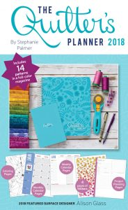 2018 Quilters Planner and Pattern Magazine with 14 Patterns