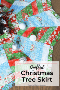How to Make A Quilted Christmas Tree Skirt