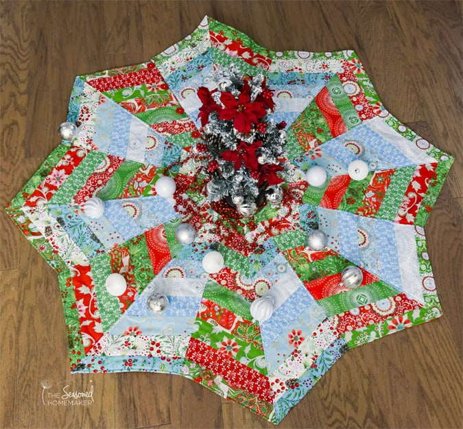 How To Make A Christmas Tree Skirt You Ll Love The Seasoned Homemaker