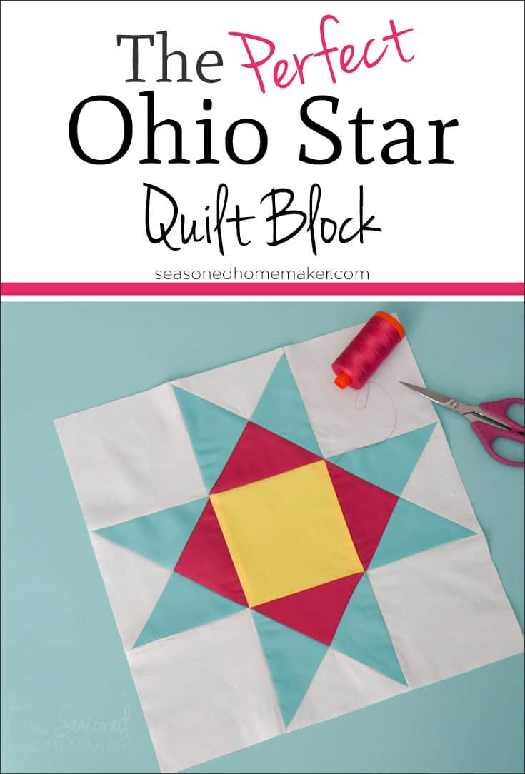 How To Make A Perfect Ohio Star Quilt Block The Seasoned Homemaker