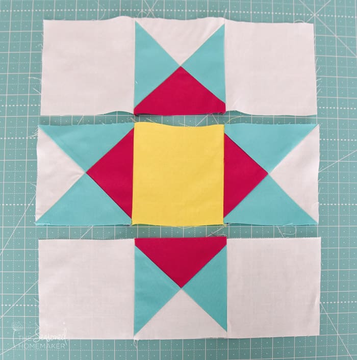 How To Make A Perfect Ohio Star Quilt Block using a Quarter Square Triangle