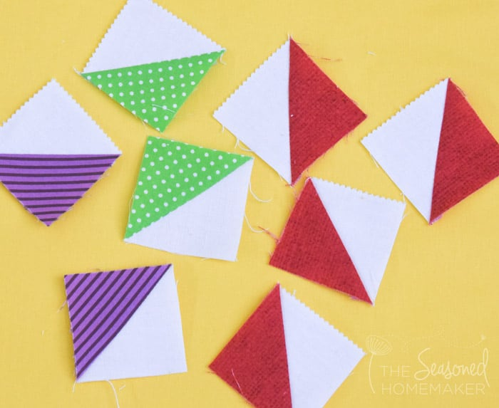 Learn How To Make A Perfect Ohio Star Quilt Block using a Quarter Square Triangle.
