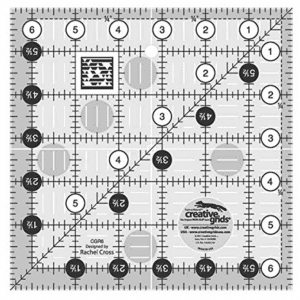 "Creative Grids 6.5"" Square Quilting Ruler Template"