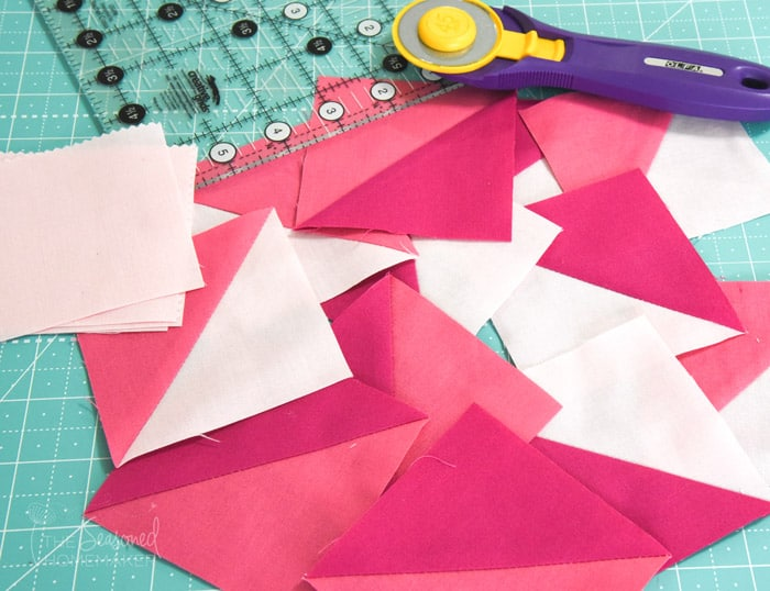 Learn How To Make A Perfect Variable Star Quilt Block using Half Square Triangles.