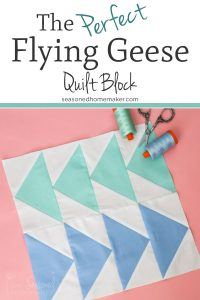 Learn how to make the simple Flying Geese Quilt Block four at a time.