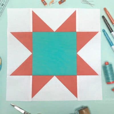 How to Make a Perfect Sawtooth Star Quilt Block