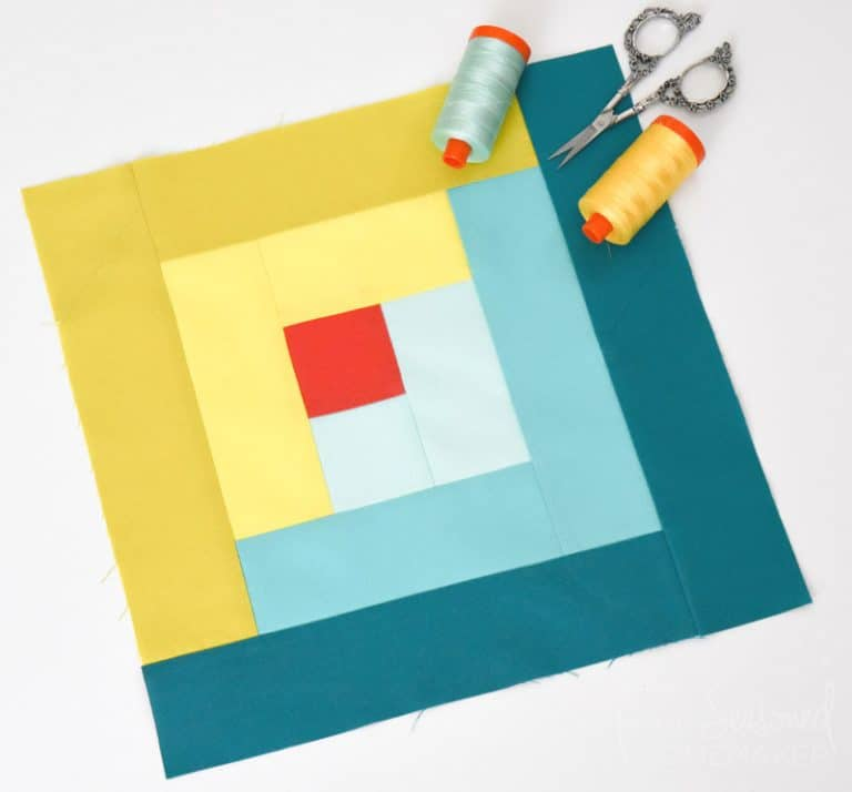 How to Make a Perfect Log Cabin Quilt Block