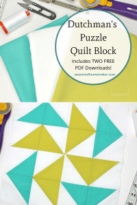 How to make the Dutchman's Puzzle Quilt Bloc