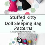 Easy Doll Sleeping Bag + a Tiny Kitten Tutorial