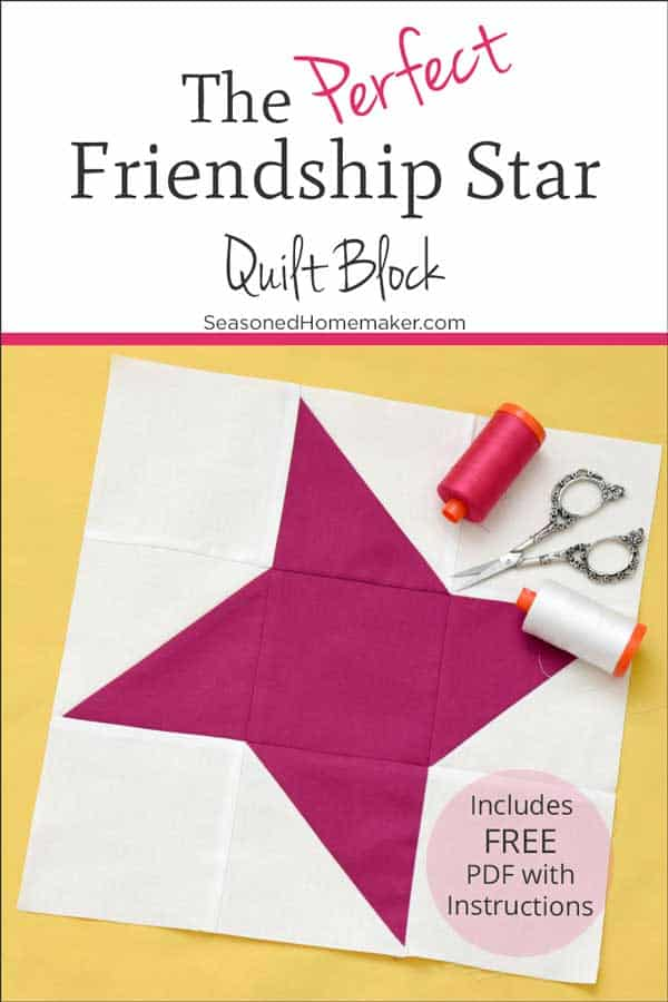 How To Make A Perfect Friendship Star Quilt Block The Seasoned