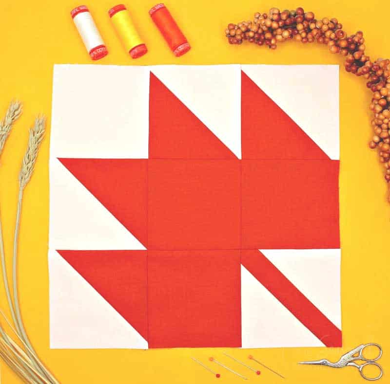 Learn How to Make a Perfect Maple Leaf Quilt Block