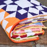 A Modern Quilt That Uses Solids