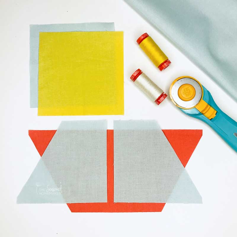 Learn How to Make an Easy Sailboat Quilt Block with these simple tutorial instructions. It's ideal for a baby boy quilt or nautical themed nursery. #easyquiltblocks #sailboatquiltblock #quilttutorials