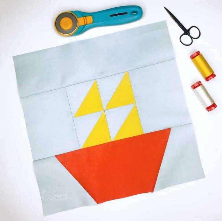 Easy Sailboat Quilt Block