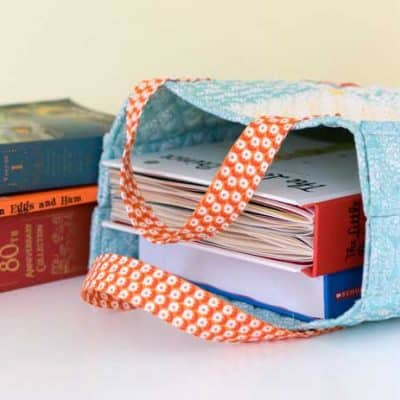 Quilted Patchwork Tote/ Pioneer Woman/ Magazine Tote/ Library Bag